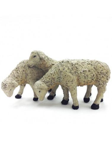 Groupe de trois moutons 19 … 21 cm