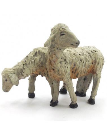 Groupe deux agneaux de 16 … 18 cm.