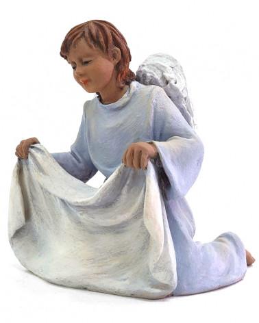 Engel mit Decke 15-17cm.
