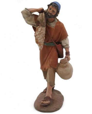 Shepherd with sack and jug...