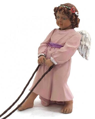 Angel pulling the wagon 17cm.