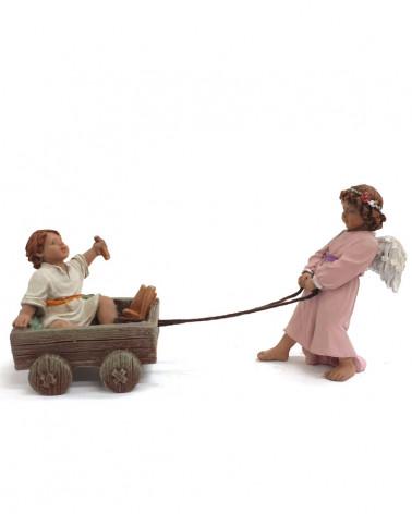 Petit ange et bébé Jésus 17cm.