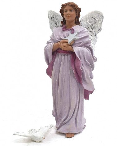 Angel with star and dove 17cm.
