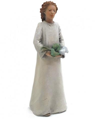 Angel with irises 13cm.