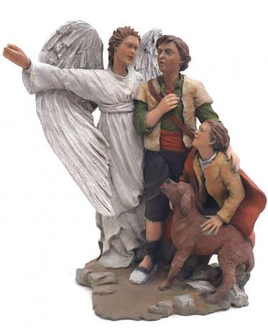 Pastores y ángel 22cm.