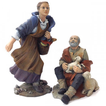 Shepherd and Shepherdess 30cm.