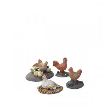 Chickens 12-16cm.