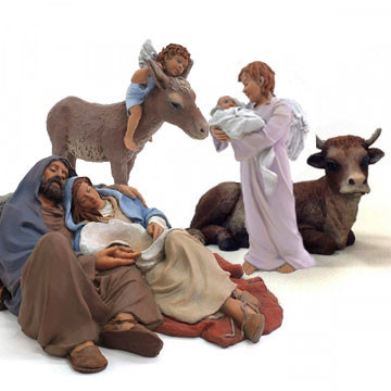 "Christmas crib ""Good sleep-2"" 17cm."