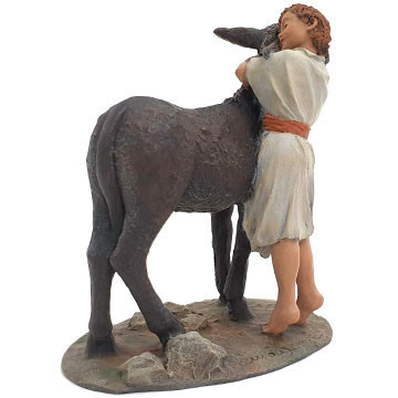 Samuel and the donkey 15-17cm.