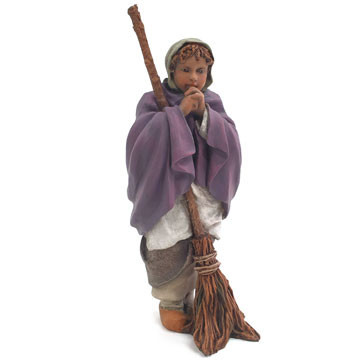 Girl with a broom 15cm.