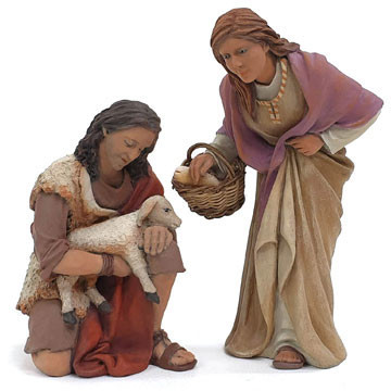 Shepherds worshiping-2 - 17cm.