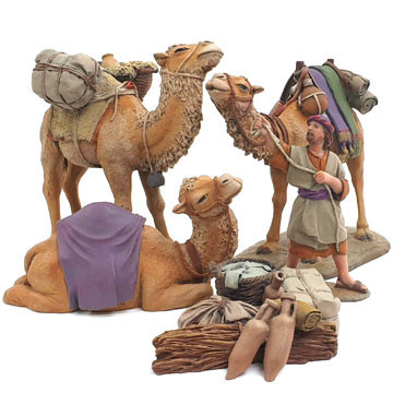 Camels and camel-driver 12cm.