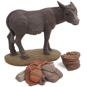 Donkey and accessories 15-17cm.