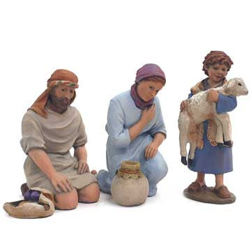 Shepherds worshiping-1 - 17cm.