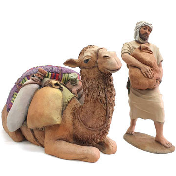Camel and camel-driver 19-22cm.